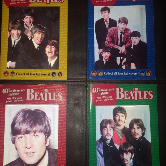 The Beatles 40th Anniversary Globe Digest books.